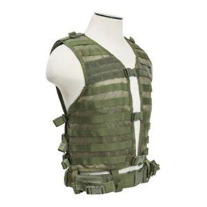 NCSTAR Modular Nylon Vest Green Size Medium - 2XL PALS/ MOLLE Webbing  CPV2915G