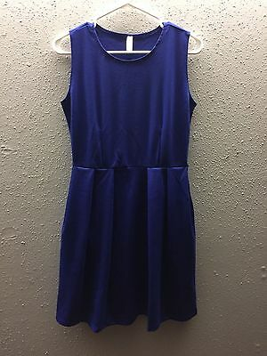 Size Medium Fast Color Royal I'm Smitten Skater Dress W/pockets Considerate New Lyss Loo
