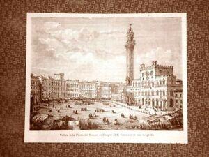 Siena-nel-1863-Veduta-della-Piazza-del-Campo-Toscana