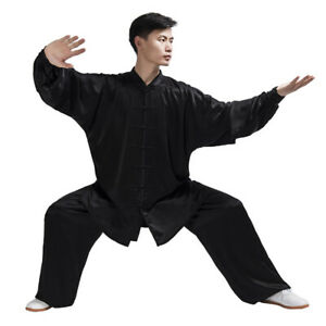 Chinese-Wushu-KungFu-Taichi-Uniform-Kung-Fu-Tai-Chi-Clothes-Suit-Black-White