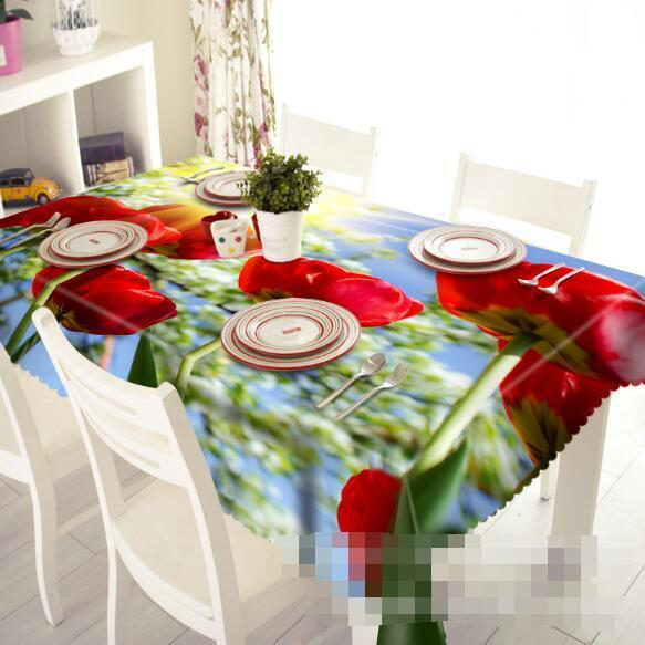 3D rouge Flowers 61 Tablecloth Table Cover Cloth Birthday Party Event AJ WALLPAPER