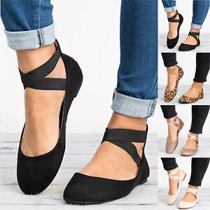 Senora-con-tiras-bailarinas-zapatos-abotinados-loafer-plana-verano-sandalias-zapatos-de-39-40