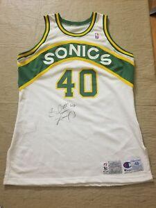 Shawn Kemp Grey Flannel   JSA Sonics RARE game worn signed jersey ... 55bf52e17