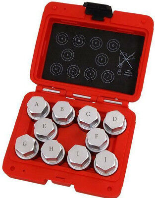Neilsen CT4768 10 pieces Land Rover Wheel Locking Nut Key Set Master Set