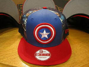75398b06a Captain America Winter Soldier Slice New Era Hat Snapback Med-LG NWT ...