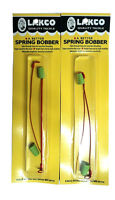 Lakco Spring Bobbers, 2 Packs Of 2, Size Small, Adjustable, Ice Fishing 612sb