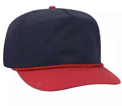VINTAGE STYLE NEW OTTO ROYAL BLUE STRAP HAT CAP ADJUSTABLE BACK ADULT SZ BLANK