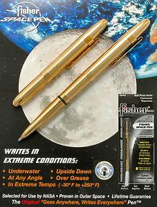 Fisher Space Pen #400 Chrome Bullet #S400 MEDIUM BLACK PLUS EXTRA BLUE REFILL