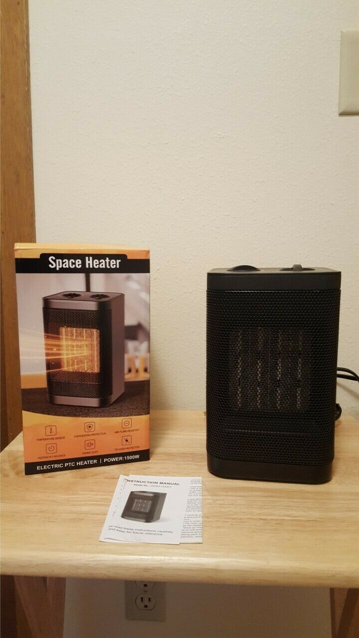 PTC Space Heat Air Choice 1603M 1500W Portable Electric Heater New in Box!