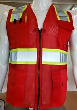 Two Tone High Visibility Reflective Red Safety Vest X Small 5xl
