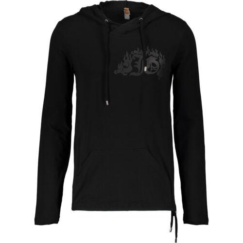 lange zwarte John katoen Xl op 70 stretch korting shirt It52 met mouwen T Galliano hoodie q1PaSwB