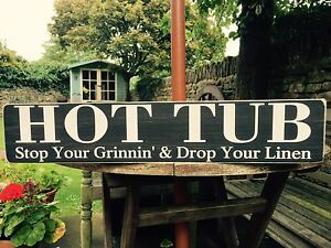 Personalised Words Name HOT TUB Outside Garden Patio Lawn Bar BBQ Sign Plaque