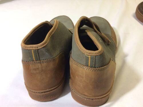 Olukai KAHA Gray//Tan MEN/'s Leather Boots Size 9