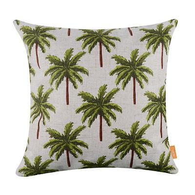 Linen Cotton Natural Tropical Coconut Palm Tree Hawaiian Cushion Cover Case Big