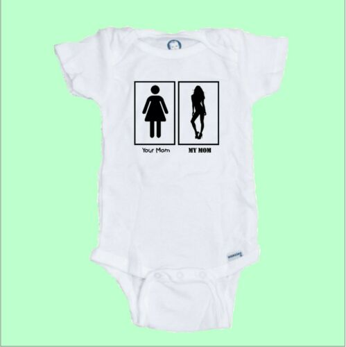 Your Mom  My Mom  funny baby Onesie Romper Makes a Great Shower