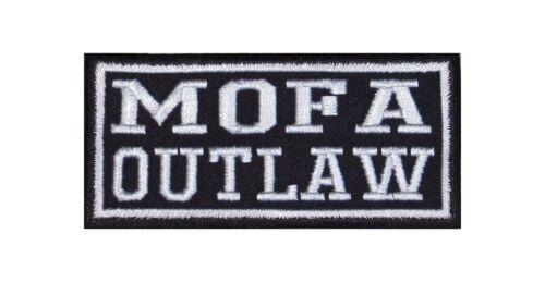 MOTORINO Outlaw PATCH RICAMATE BADGE Biker Heavy Rocker STAFFA immagine tonaca 2 Stick Clock