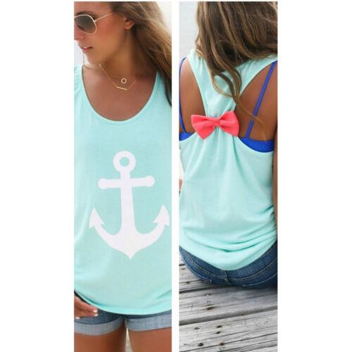 Fashion Women Summer Vest Top Sleeveless Shirt Blouse Casual Tank Tops T-Shirt
