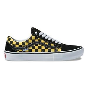 489e96810967f1 Image is loading Vans-Old-Skool-Pro-Mens-Shoes-Checkerboard-Black-