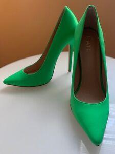 raye neon green pumps size 7 for narrow