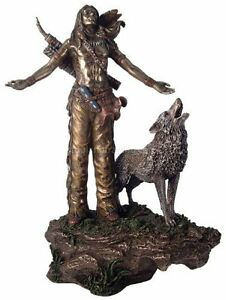 Native American Indian Praying w/Open Arms Statue Figurine Sculpture -HOME DECOR