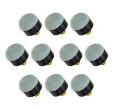 12mm Soft-tip Brass Screw-on Pool Cue Tips by Felson Billiard Supplies
