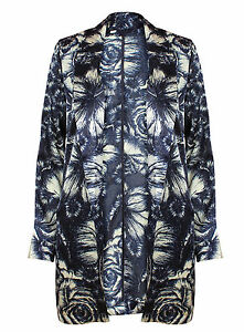Ex-Atmosphere-Long-Sleeve-Blue-Floral-Print-Waterfall-Blazer-Jacket-Size-6-20