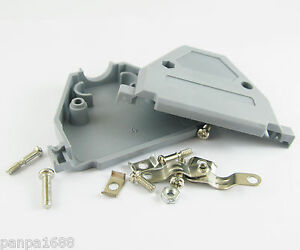 4sets-Grey-D-Sub-DB37-37Pin-Plastic-Hood-Cover-for-37-Pin-2-Row-D-Sub-Connector