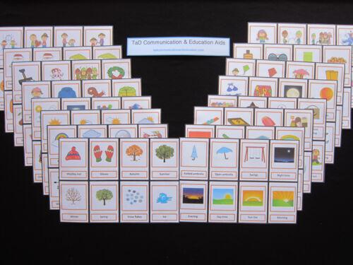 Weather stagioni date importanti-Autismo//ADHD//Visual Communication Carte//Demenza