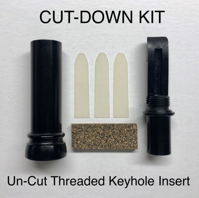 Kirk McCullough-Youth Model CUT-DOWN Threaded Keyhole Duck Call GREEN BAND