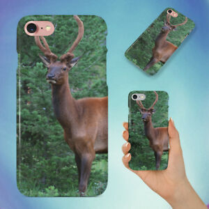 BROWN-REINDEER-ON-GRASS-FIELD-HARD-BACK-CASE-FOR-APPLE-IPHONE-PHONE