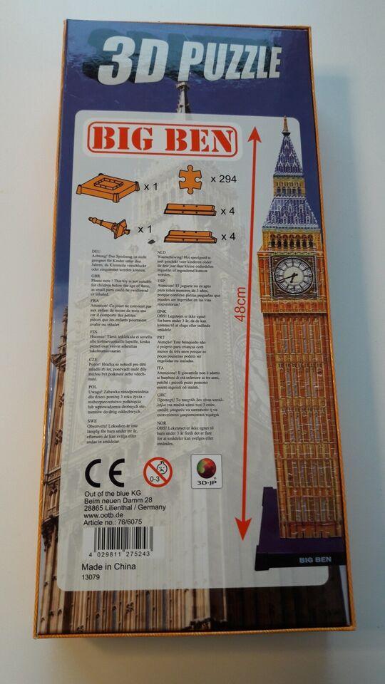 Big Ben, 3D, puslespil