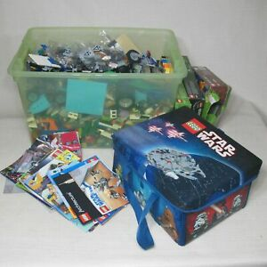 LEGO-HUGE-LOT-25-LB-MIXED-STAR-WARS-MINECRAFT-EMPIRE-STATE-PLUS-MANUALS-CASE