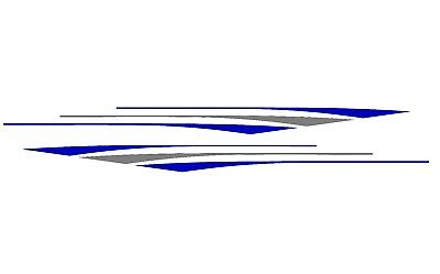 8 RV Trailer Truck Boat Accent Stripe Decals Graphics Custom Colors ST13