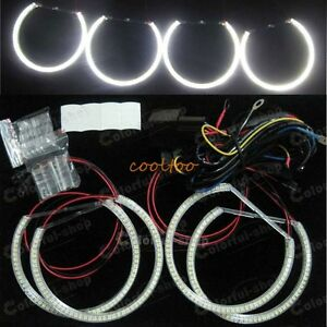 4X-SMD-LED-ANGEL-EYE-HALO-RING-Bulb-lamp-kit-for-BMW-E46-NON-Projectors-white