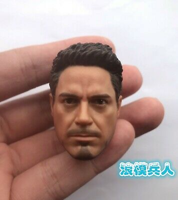no neck for 12/'/' Male Figure PHICEN 1//6 Tony Stark Iron Man Head Sculpt