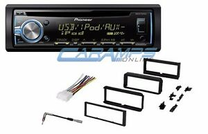 new pioneer car stereo radio with cd player am fm dash install kit wiring ebay