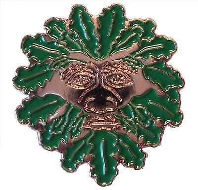 Crescent Moon Hare Rabbit Pagan Celtic Mythological Symbol Metal Enamel Badge