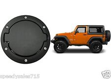 Satin Black Fuel Door Cover For 2007-2017 Jeep Wrangler JK New Free Shipping USA