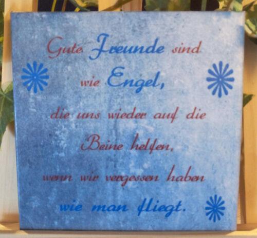 Dekofliese Wandbild Bildfliese Geschenkidee Fliese Freundschaft ... 063DP