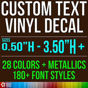 Custom Vinyl Lettering Decal Personalized Sticker Window Wall Text - Custom vinyl decal text