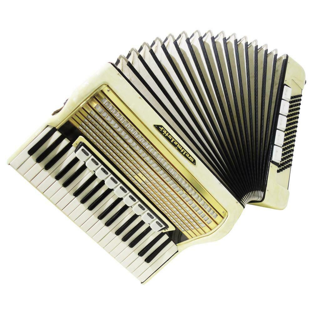 Weltmeister, Vintage Piano Accordion, made in Germany, 96 Bass, New Straps, 1165