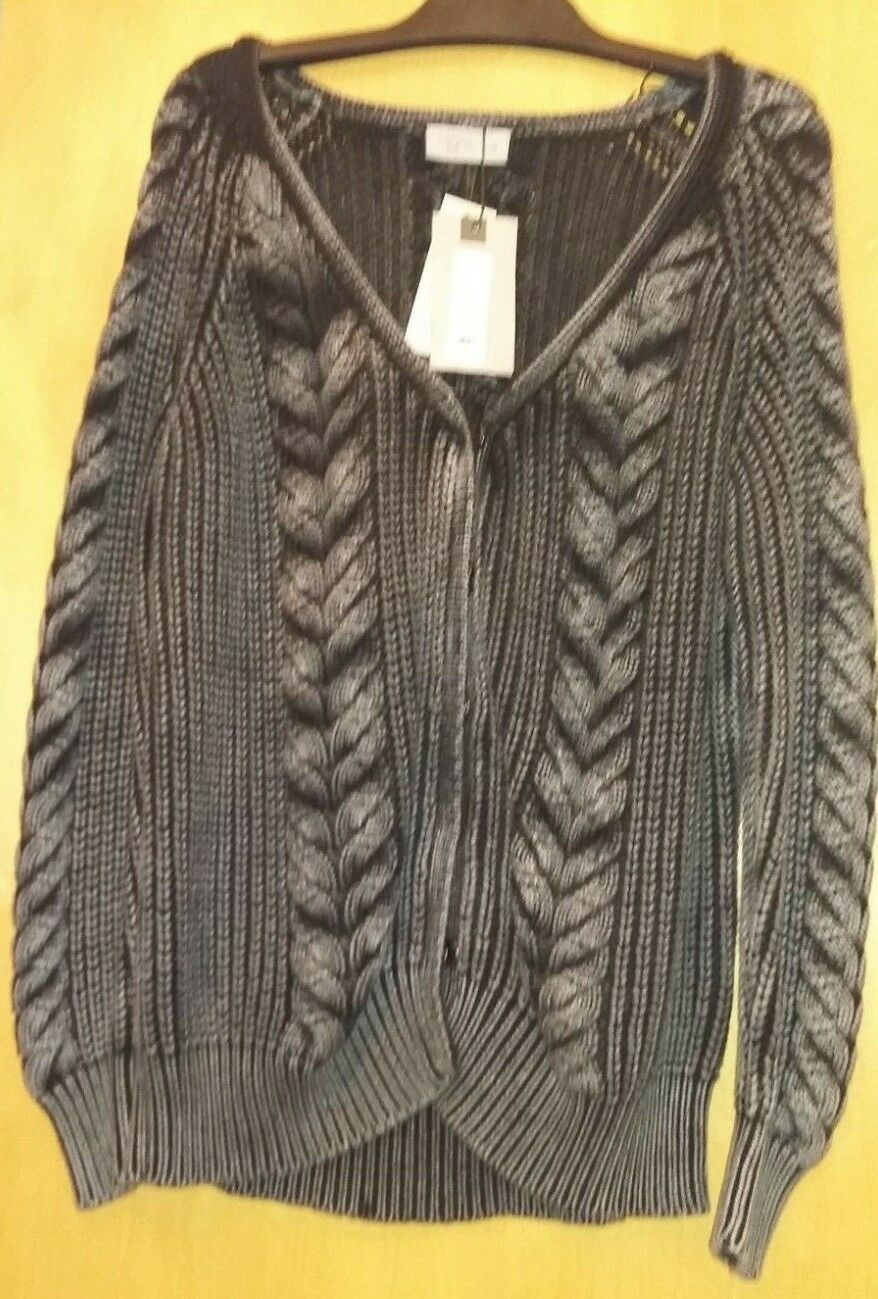 LABEL LAB - Distressed Chunky Knit Over Sized Cardigan - Size M - NEW WITH TAG