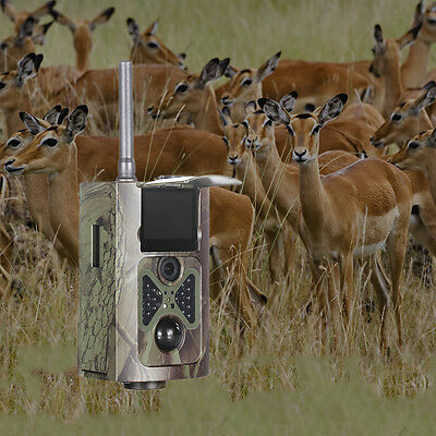 HC500M 12MP 2G MMS SMS GSM Infrared HD Trail Hunting Camera Video +Solar Battery