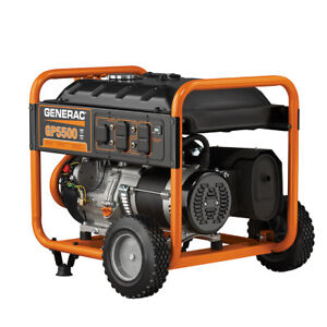 Generac 5939 - GP5500 5500 Watt Portable Generator | Reconditioned | 6875W Surge