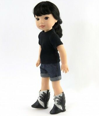 Black Cowboy Hat fits American Girl Wellie Wisher Doll 14.5 Inch Seller lsful
