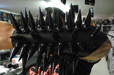 LEATHER GAUNTLET BLACK SPIKES.BLACK METAL...(MDLG0108)..... DARK FUNERAL