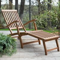 Coral Coast Dorado Acacia Steamer Deck Lounge Chair on sale
