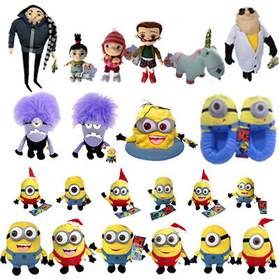 Despicable Me Character Plush Toy Minions Unicorn Gru Agnes Edith Margo Doll Etc