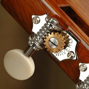 waverly guitar tuners with ivoroid knobs for slotted pegheads nickel 3l 3r ebay