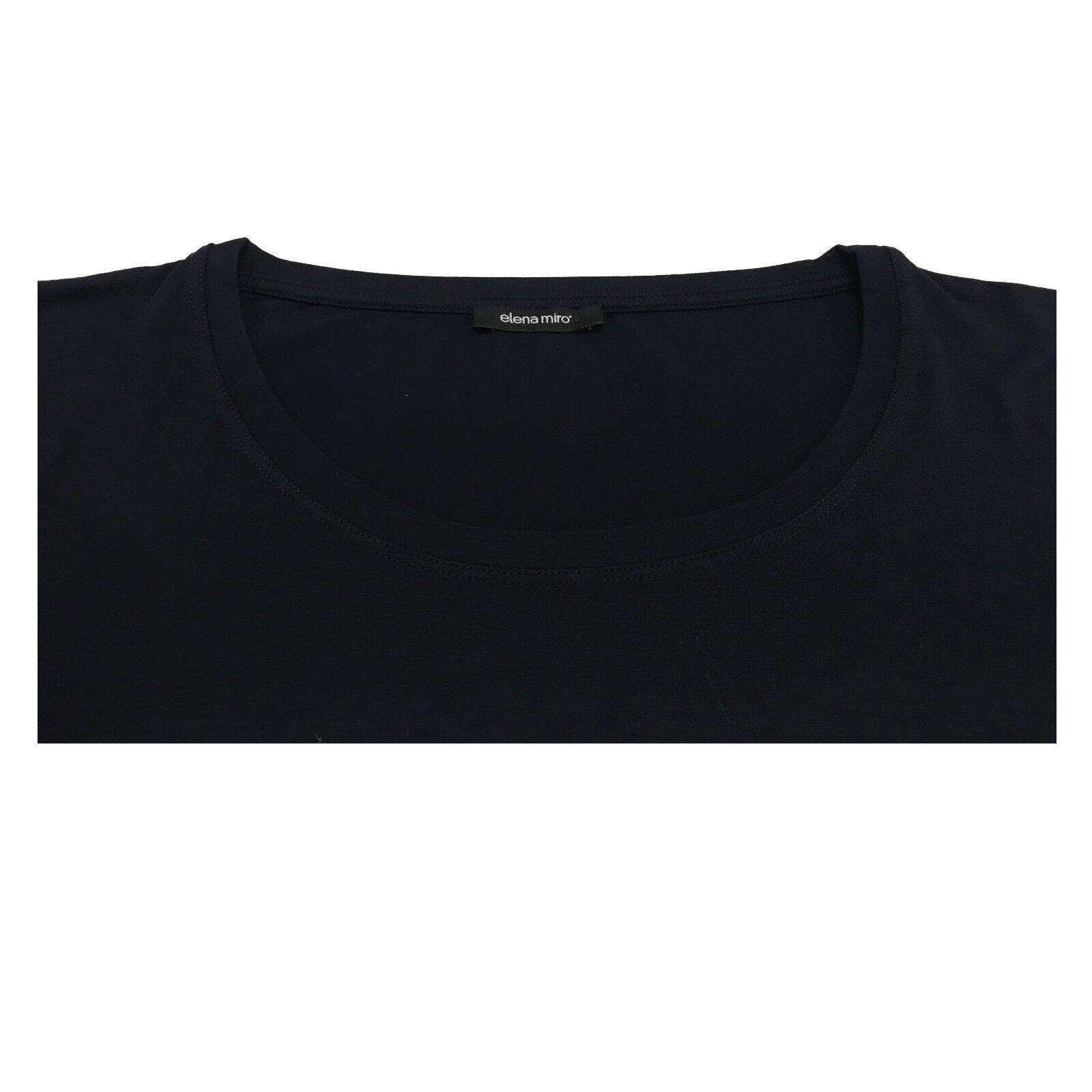 ELENA MIRÒ t-shirt donna blu manica 3 4 97% 97% 97% viscosa 3% elastan 37a553